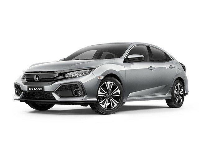 Demo Honda Civic 10th Gen MY18 VTi-LX, 2018 Honda Civic 10th Gen MY18 VTi-LX Lunar Silver 1 Speed Constant Variable Hatchback
