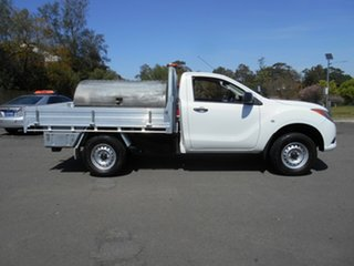 2014 Mazda BT-50 MY13 XT Hi-Rider (4x2) White 6 Speed Automatic Cab Chassis