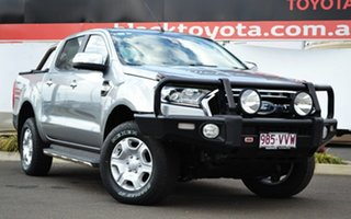 2015 Ford Ranger PX MkII XLT 3.2 (4x4) Silver 6 Speed Automatic Dual Cab Utility.