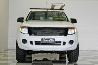 2012 Ford Ranger PX XL 2.2 Hi-Rider (4x2) White 6 Speed Automatic Super Cab Chassis