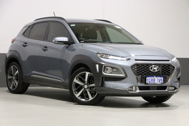 Used Hyundai Kona OS.2 MY19 Highlander (AWD), 2019 Hyundai Kona OS.2 MY19 Highlander (AWD) Silver 7 Speed Auto Dual Clutch Wagon