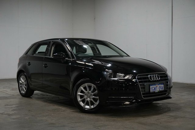 Used Audi A3 8V MY16 Attraction Sportback S Tronic, 2016 Audi A3 8V MY16 Attraction Sportback S Tronic Black 7 Speed Sports Automatic Dual Clutch