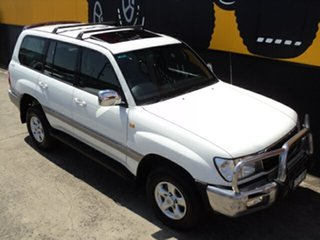 2002 Toyota Landcruiser HDJ100R GXV Alpine White 4 Speed Automatic Wagon