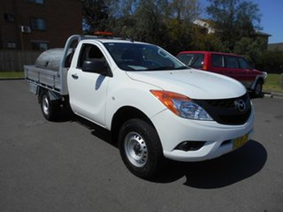 2014 Mazda BT-50 MY13 XT Hi-Rider (4x2) White 6 Speed Automatic Cab Chassis.