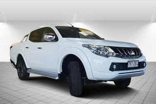 2018 Mitsubishi Triton MQ MY18 Exceed Double Cab White 5 Speed Sports Automatic Utility.