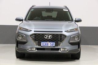 2019 Hyundai Kona OS.2 MY19 Highlander (AWD) Silver 7 Speed Auto Dual Clutch Wagon.