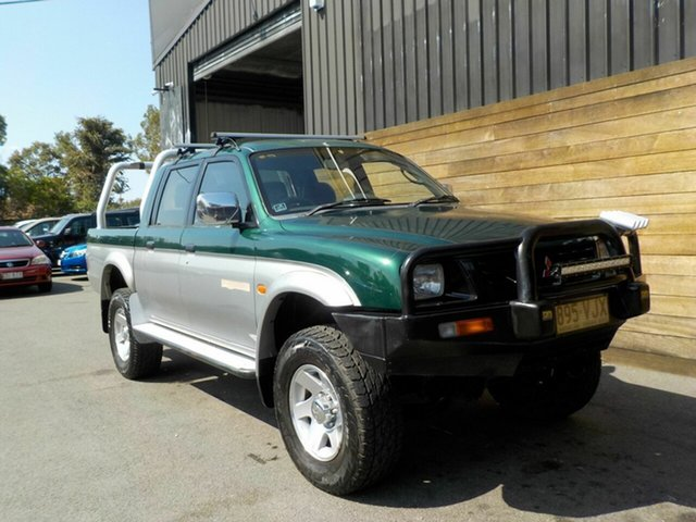 Used Mitsubishi Triton MK GLS Double Cab, 1999 Mitsubishi Triton MK GLS Double Cab Green 5 Speed Manual Utility