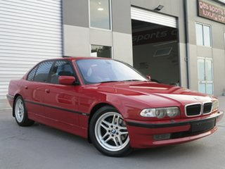 1999 BMW 7 Series E38 735i Steptronic Red 5 Speed Sports Automatic Sedan.