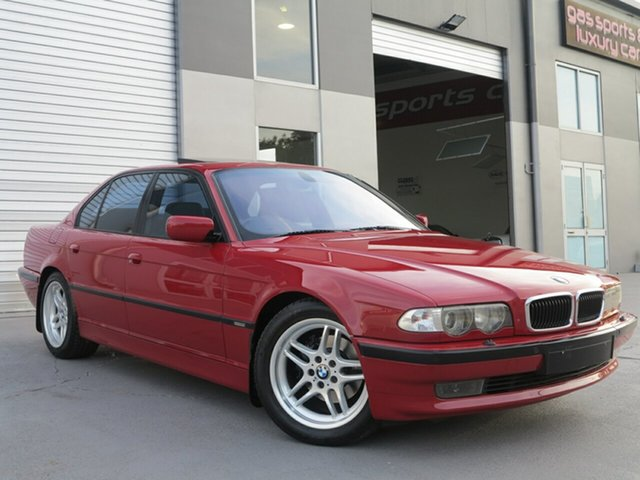 Used BMW 7 Series E38 735i Steptronic, 1999 BMW 7 Series E38 735i Steptronic Red 5 Speed Sports Automatic Sedan
