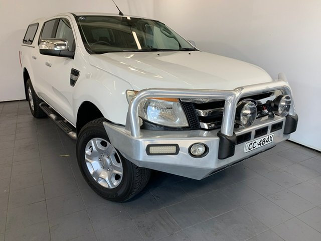 Used Ford Ranger PX XLT Double Cab, 2012 Ford Ranger PX XLT Double Cab White 6 Speed Manual Utility