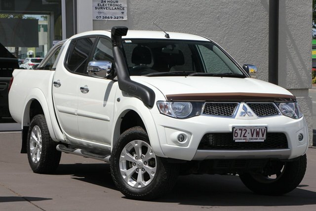 Used Mitsubishi Triton MN MY15 GLX-R Double Cab, 2015 Mitsubishi Triton MN MY15 GLX-R Double Cab White 5 Speed Manual Utility