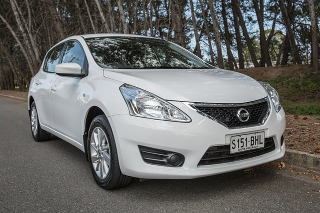 Used Nissan Pulsar C12 Series 2 ST, 2015 Nissan Pulsar C12 Series 2 ST White 1 Speed Constant Variable Hatchback