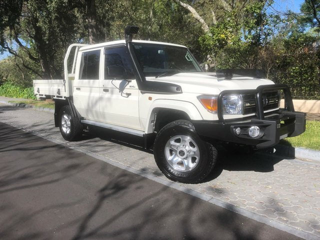 Used Toyota Landcruiser VDJ79R GXL Double Cab, 2017 Toyota Landcruiser VDJ79R GXL Double Cab White 5 Speed Manual Cab Chassis