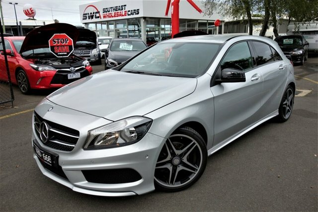 Used Mercedes-Benz A-Class W176 A200 D-CT, 2013 Mercedes-Benz A-Class W176 A200 D-CT Silver 7 Speed Sports Automatic Dual Clutch Hatchback