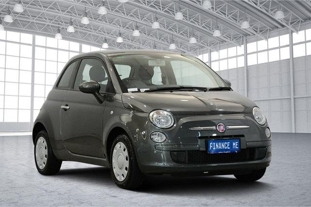 Used Fiat 500 Series 1 Pop Dualogic, 2014 Fiat 500 Series 1 Pop Dualogic Grey 5 Speed Sports Automatic Single Clutch Hatchback