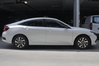 2019 Honda Civic 10th Gen MY19 50 Years Edition Platinum White 1 Speed Constant Variable Sedan.