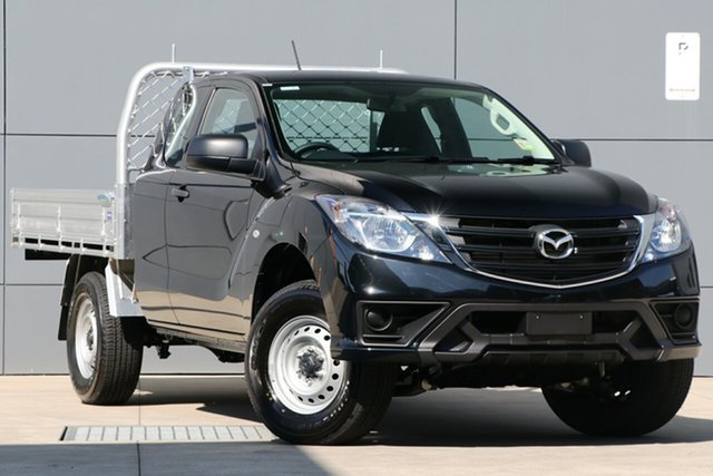 New Mazda BT-50 UR0YG1 XT Freestyle 4x2 Hi-Rider, 2019 Mazda BT-50 UR0YG1 XT Freestyle 4x2 Hi-Rider Jet Black 6 Speed Sports Automatic Cab Chassis