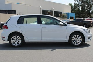 2018 Volkswagen Golf 7.5 MY19 110TSI Trendline Pure White 6 Speed Manual Hatchback.