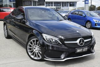 2016 Mercedes-Benz C-Class C205 C300 7G-Tronic + Black 7 Speed Sports Automatic Coupe.