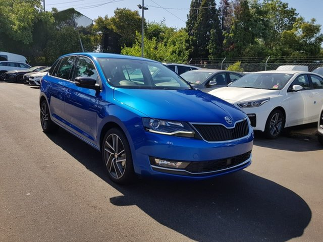 New Skoda Rapid NH MY19 Spaceback DSG, 2018 Skoda Rapid NH MY19 Spaceback DSG Blue 7 Speed Sports Automatic Dual Clutch Hatchback