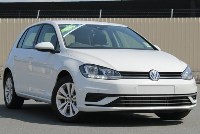 Demo Volkswagen Golf 7.5 MY19 110TSI Trendline, 2018 Volkswagen Golf 7.5 MY19 110TSI Trendline Pure White 6 Speed Manual Hatchback