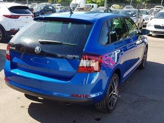 2018 Skoda Rapid NH MY19 Spaceback DSG Blue 7 Speed Sports Automatic Dual Clutch Hatchback.