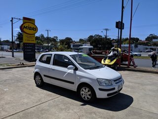 2003 Hyundai Getz TB GL White 5 Speed Manual Hatchback.