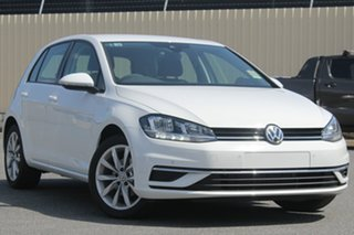 2018 Volkswagen Golf 7.5 MY19 110TSI DSG Comfortline Pure White 7 Speed Sports Automatic Dual Clutch.