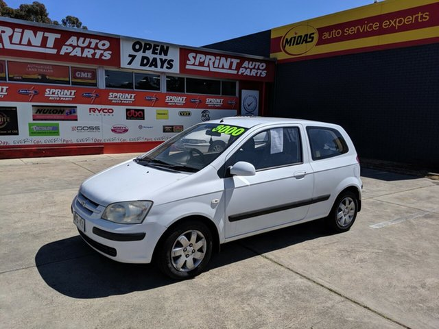 Used Hyundai Getz TB GL, 2003 Hyundai Getz TB GL White 5 Speed Manual Hatchback