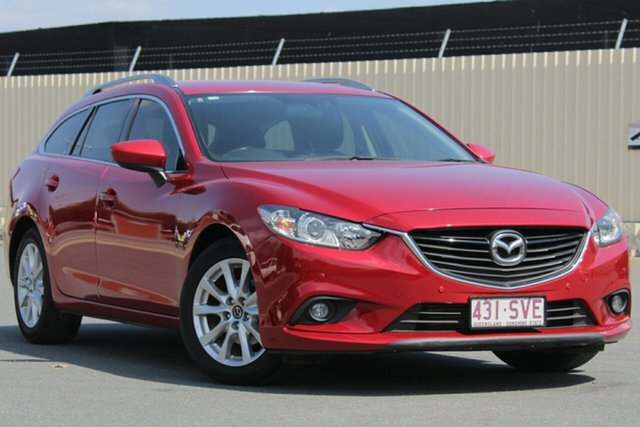 Used Mazda 6 GJ1021 Touring SKYACTIV-Drive, 2012 Mazda 6 GJ1021 Touring SKYACTIV-Drive Soul Red 6 Speed Sports Automatic Wagon