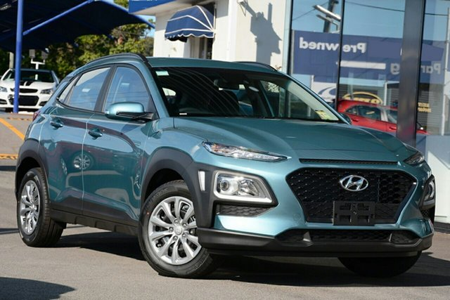 New Hyundai Kona OS.3 MY20 GO (AWD), 2020 Hyundai Kona OS.3 MY20 GO (AWD) Ceramic Blue 7 Speed Auto Dual Clutch Wagon