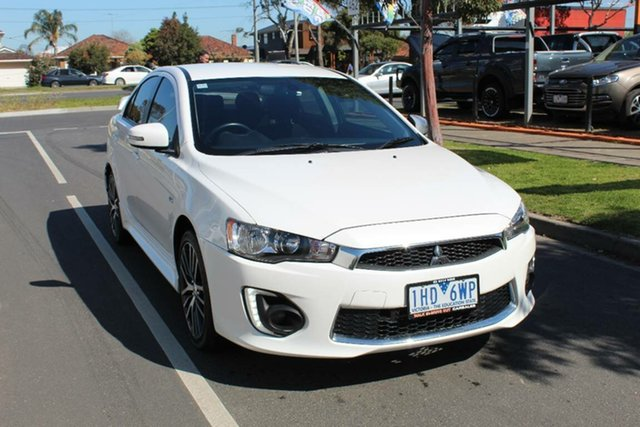Used Mitsubishi Lancer CF MY17 GSR, 2016 Mitsubishi Lancer CF MY17 GSR White 6 Speed CVT Auto Sequential Sedan