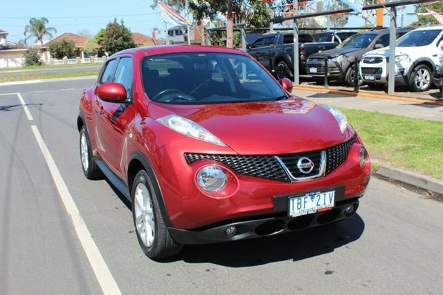 Used Nissan Juke F15 ST (FWD), 2014 Nissan Juke F15 ST (FWD) Red Continuous Variable Wagon