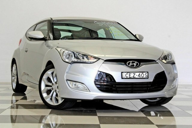 Used Hyundai Veloster FS +, 2012 Hyundai Veloster FS + Silver 6 Speed Auto Dual Clutch Coupe