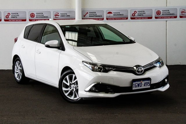 Used Toyota Corolla ZRE182R MY17 Ascent Sport, 2017 Toyota Corolla ZRE182R MY17 Ascent Sport Glacier White 7 Speed CVT Auto Sequential Hatchback