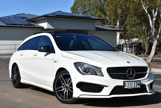 Used Mercedes-Benz CLA-Class X117 CLA250 Shooting Brake DCT 4MATIC Sport, 2015 Mercedes-Benz CLA-Class X117 CLA250 Shooting Brake DCT 4MATIC Sport White 7 Speed