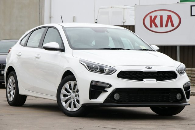 New Kia Cerato BD MY19 S, 2019 Kia Cerato BD MY19 S Snow White Pearl 6 Speed Sports Automatic Hatchback