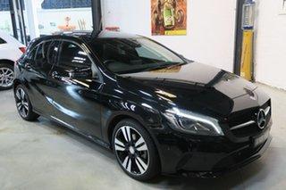 2016 Mercedes-Benz A-Class W176 807MY A180 D-CT Black 7 Speed Sports Automatic Dual Clutch Hatchback.