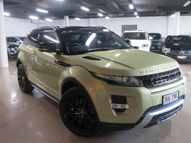 Used Land Rover Range Rover Evoque L538 MY12 SD4 Coupe CommandShift Dynamic, 2012 Land Rover Range Rover Evoque L538 MY12 SD4 Coupe CommandShift Dynamic Colima Lime 6 Speed