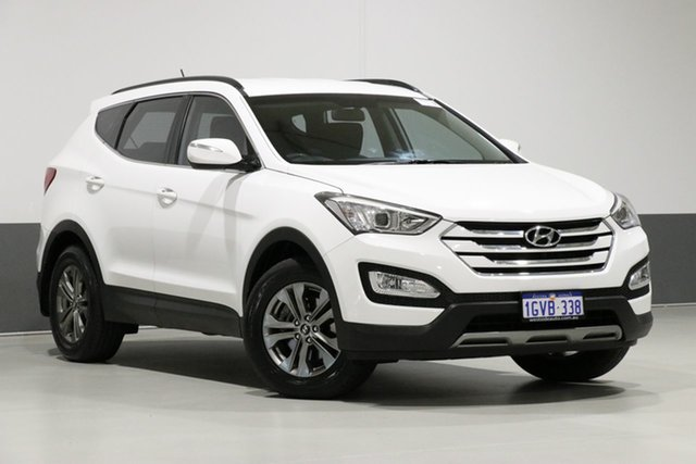 Used Hyundai Santa Fe DM MY15 Active CRDi (4x4), 2014 Hyundai Santa Fe DM MY15 Active CRDi (4x4) White 6 Speed Automatic Wagon