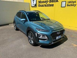 2017 Hyundai Kona OS MY18 Highlander 2WD Blue 6 Speed Sports Automatic Wagon.