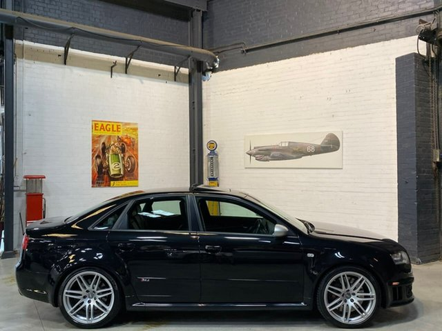 Used Audi RS4 B7 Quattro, 2007 Audi RS4 B7 Quattro Black 6 Speed Manual Sedan