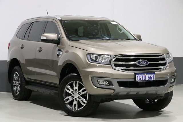 Used Ford Everest UA II MY19 Trend (RWD 7 Seat), 2018 Ford Everest UA II MY19 Trend (RWD 7 Seat) Bronze 10 Speed Auto Seq Sportshift Wagon