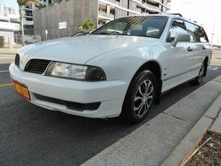 2002 Mitsubishi Magna TJ Advance White 4 Speed Automatic Wagon.