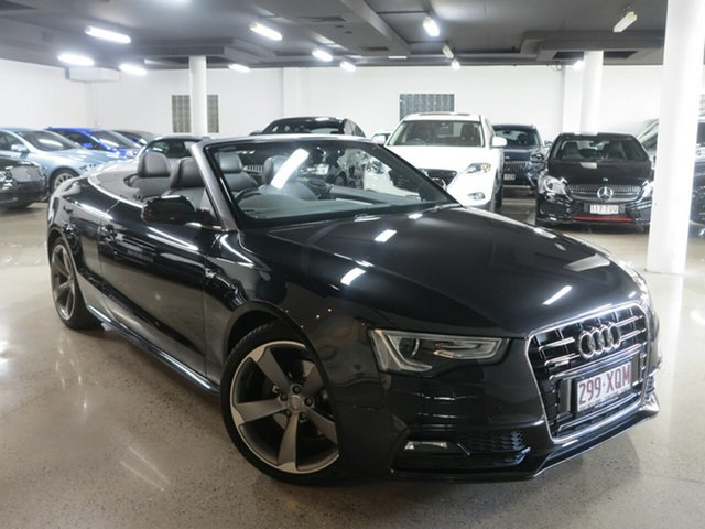 Used Audi A5 8T MY14 S Tronic Quattro, 2014 Audi A5 8T MY14 S Tronic Quattro Black 7 Speed Sports Automatic Dual Clutch Cabriolet