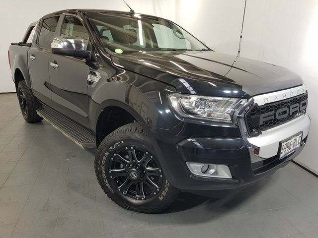 Used Ford Ranger PX MkII XLT Double Cab, 2016 Ford Ranger PX MkII XLT Double Cab Black 6 Speed Sports Automatic Utility