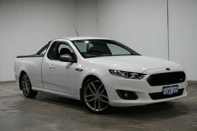 Used Ford Falcon FG X XR6 Ute Super Cab Turbo, 2016 Ford Falcon FG X XR6 Ute Super Cab Turbo White 6 Speed Sports Automatic Utility