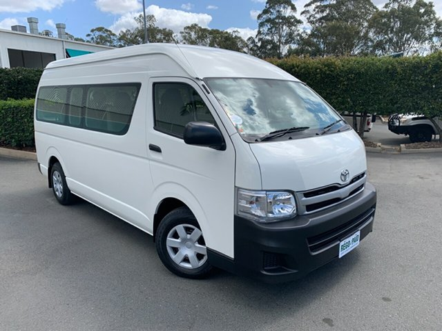 Used Toyota HiAce TRH223R MY12 Commuter High Roof Super LWB, 2012 Toyota HiAce TRH223R MY12 Commuter High Roof Super LWB White Bus