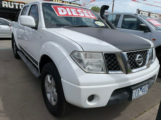Used Nissan Navara D40 MY11 ST, 2011 Nissan Navara D40 MY11 ST White 5 Speed Automatic Utility