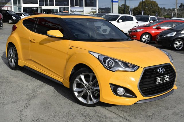 Used Hyundai Veloster FS5 Series II SR Coupe Turbo, 2017 Hyundai Veloster FS5 Series II SR Coupe Turbo Yellow 6 Speed Manual Hatchback